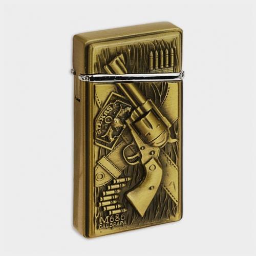 """Зажигалка газовая """"Пистолет"""" в картонной коробке, мужская 3х6 см"""