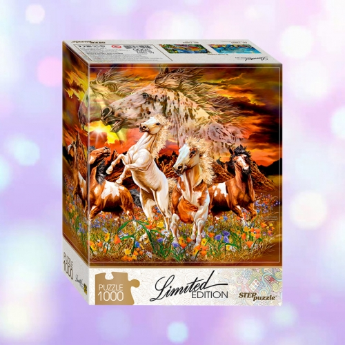 "Пазл Step Puzzle ""Limited Edition. Найди 16 лошадей"", картонная коробка"
